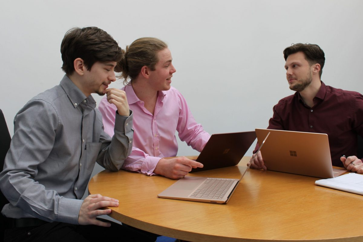 Photo of 3 of our Software Development Team